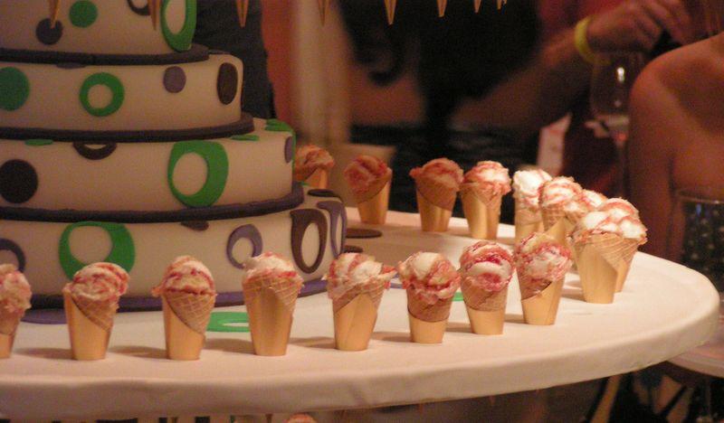 Wedding Cake in a Cone