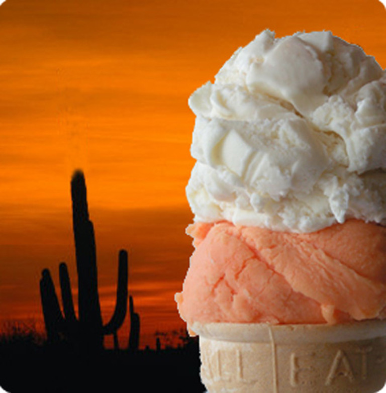 Horchata and Peach Habanero ice cream